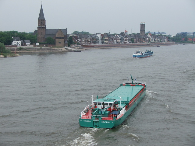Sailing up the river Rhine passing Emmerich. Picture M.Prummel