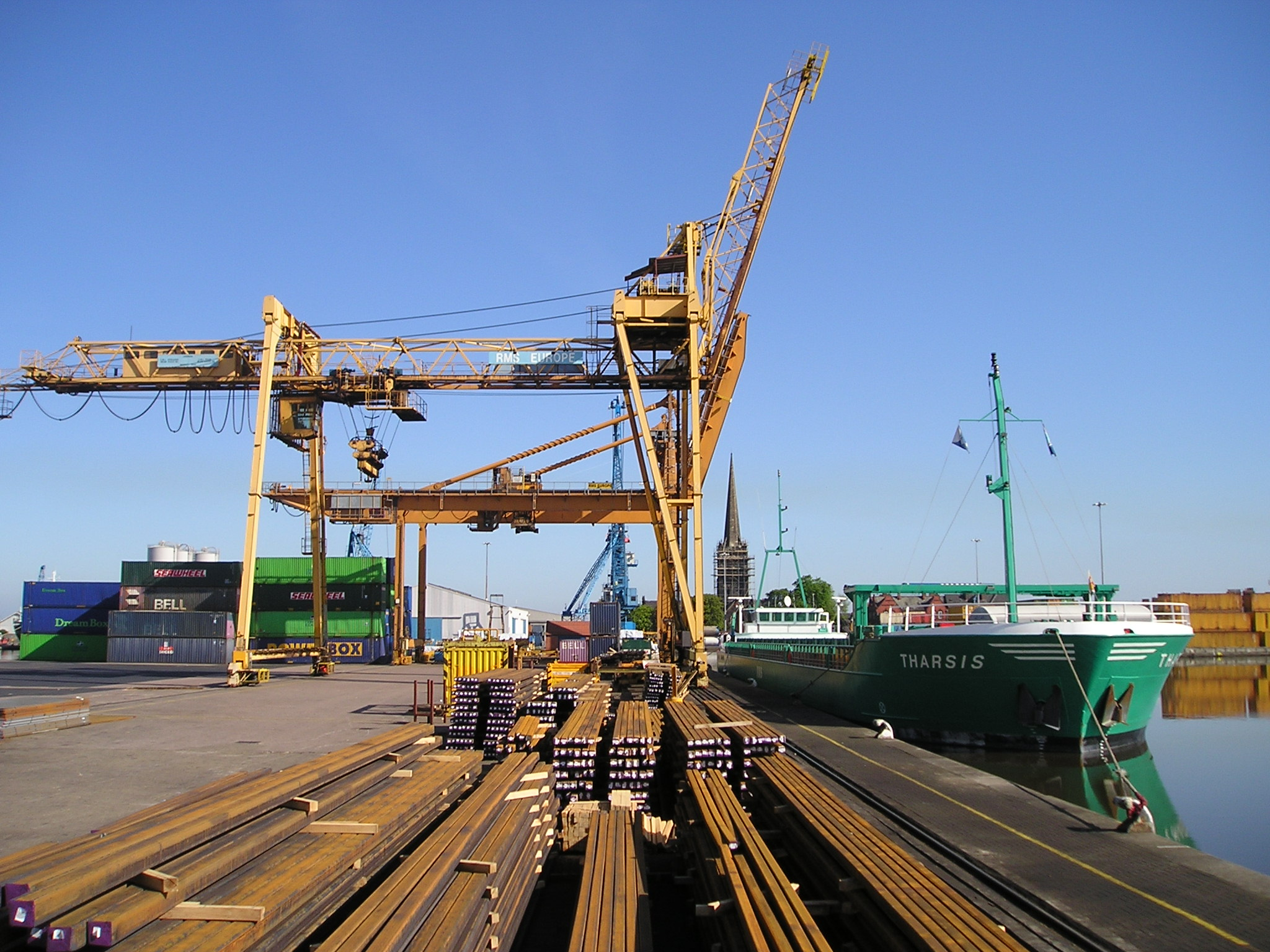 Under the gantry crane at Goole