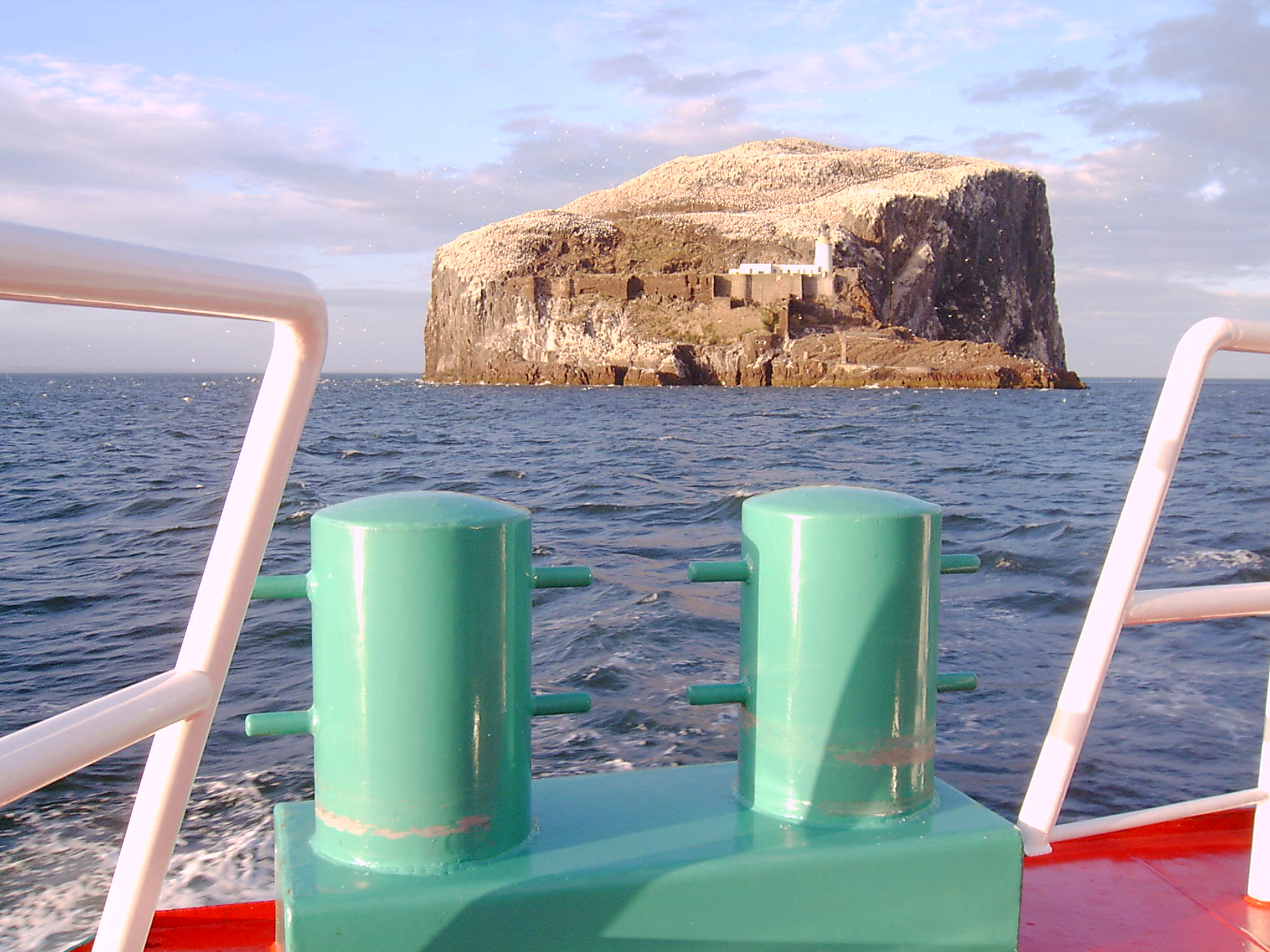Passing Bass Rock, Scotland
